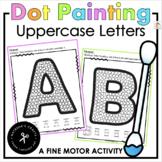 Q-tip Painting Alphabet Uppercase