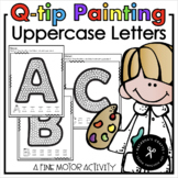Alphabet Q-tip Painting Uppercase Letters