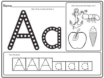 Alphabet Q-tip Stamp