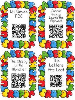 Alphabet QR Code Read Aloud Listening Centers