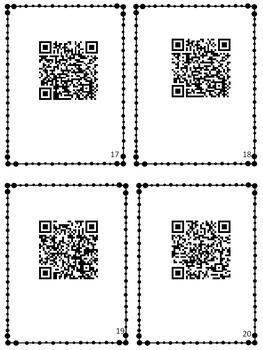 Alphabet QR Code Scavenger Hunt