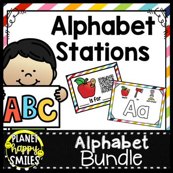 Alphabet QR Codes: Beginning Sounds with or without  QR Codes