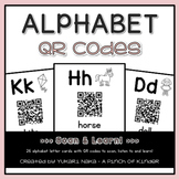 Alphabet QR Codes for Kindergarten
