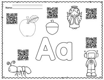Alphabet QR Codes for your listening Center