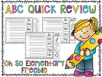 Alphabet Quick Review FREEBIE