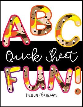 Alphabet Quick Sheet Fun!