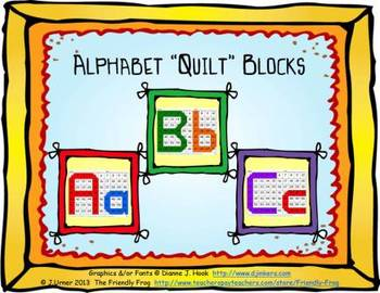 """Alphabet """"Quilt"""" Blocks"""