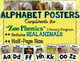 Zoo Phonics REAL Animal Pictures - Half Page Size Posters