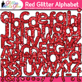 Red Glitter Alphabet Clip Art {Glitter Meets Glue}