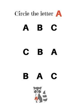 Alphabet Raccoon: Letters A-C