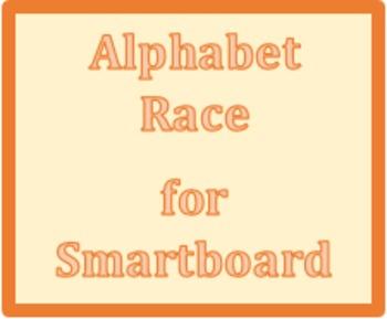 Alphabet Race Smartboard game