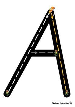 Alphabet Racetrack Letters - Capitals - Australian Font