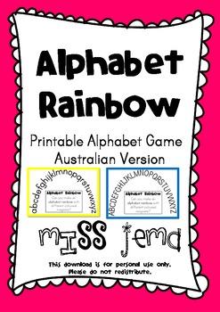 Alphabet Rainbow - Alphabetical Order Activity - Australian Spelling
