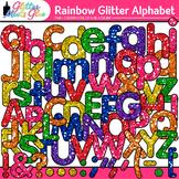 Rainbow Glitter Alphabet Clip Art {Great for Classroom Decor & Resources}