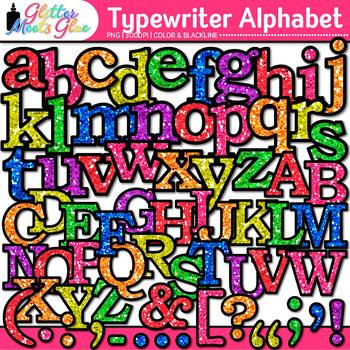 Typewriter Alphabet Clip Art {Great Back to School Classroom Decor & Resources}