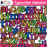 Typewriter Alphabet Clip Art {Great Back to School Classro