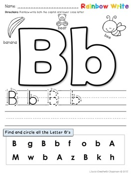 Rainbow write: alphabet