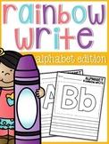 Alphabet Rainbow Write Sheets