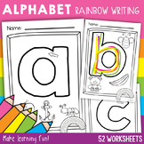 Letters of the Alphabet Rainbow Writing