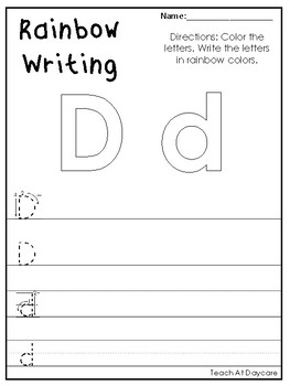 Alphabet Rainbow Writing Worksheets. Preschool-KDG Phonics and Literacy