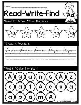 Alphabet Read, Write, Find {English only}