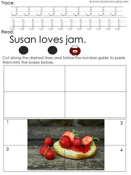 Alphabet Read and Trace Picture Puzzles