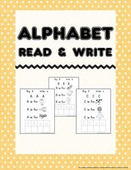 Alphabet Read and Write