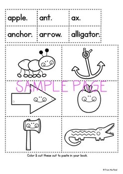 Alphabet Reader - My A Book - Print Cut Make and READ