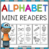 Alphabet Worksheets A-Z Kindergarten (Mini Readers)