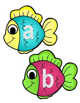 Alphabet Recognition A-Z Fishing Game