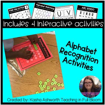 Alphabet Recognition Activities - Interactive Activities for letters A - Z