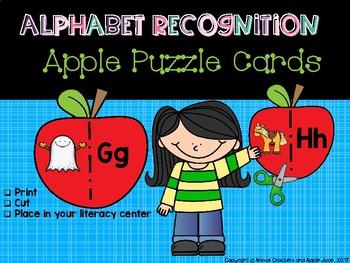 Alphabet Recognition: Apple Puzzle Cards