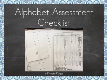 Alphabet Recognition Assessment Checklist