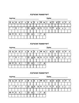 Alphabet Recognition Assessment pack