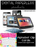 Alphabet Recognition Clip Cards Digital | Lowercase - Uppe