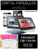 Alphabet Recognition Clip Cards Digital | Uppercase - Uppe