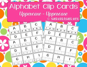 Alphabet Recognition Clip Cards | Uppercase - Uppercase | Matching