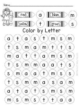Alphabet Recognition: Color by Letter