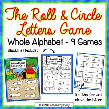 Alphabet Recognition Games - The Roll and Circle Letters Game
