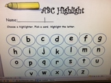 Alphabet Recognition Highlight Center