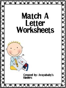 Alphabet Recognition- Letter Make a Match