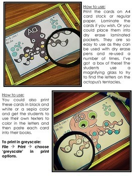 Alphabet Recognition & Practice {I Spy... Under the Sea}