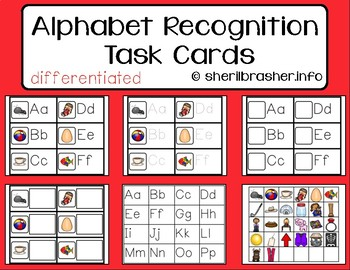 Alphabet Recognition Task Cards