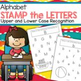 Stamp the Letters - Alphabet Recognition Printables for Pr