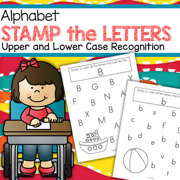 Alphabet Recognition Activity Printables for Preschool and Pre-K