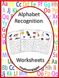Alphabet Cut and Paste Worksheets, Letter Recognition,Special Education P-K, P
