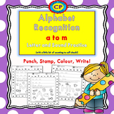Alphabet Recognition: a to m - Punch, Stamp, Colour, Write!