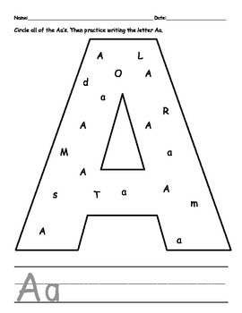 Alphabet Recognition and Handwriting Packet
