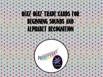 Alphabet Recognition and Letter Sound Flash Cards for quiz