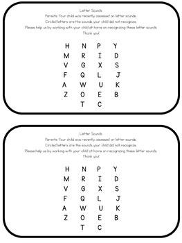 Alphabet Recognition and Letter Sound Parent Letter
